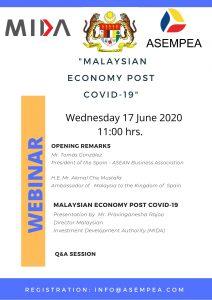 «MALAYSIAN ECONOMY POST COVID-19»